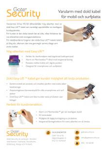 PDF: Varularm med dold kabel för mobil och surfplatta