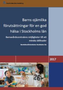 Ny rapport från Barnhälsovårdsenheten Stockholms län