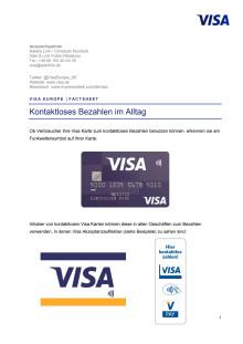 Factsheet - Kontaktloses Bezahlen im Alltag