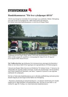 """Handelskammaren: """"För över cykelpengar till E6"""""""