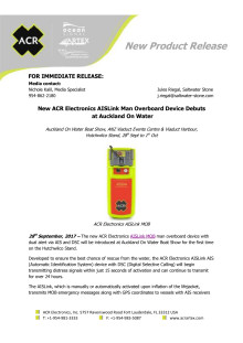 New ACR Electronics AISLink Man Overboard Device Debuts  at Auckland On Water