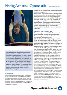 Faktablad Manlig Artistisk Gymnastik