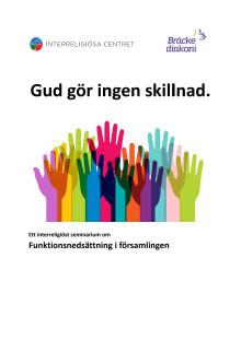 Forum för religiösa ledare - funktionsnedsättning i församlingar