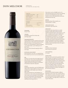 Don Melchor 2015 - Produktblad