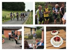 Cykelløb - taler - musik og lagkage på Behandlingscenter Tjele