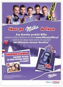 """""""Skocz po Milka do Tesco""""  - konkurs konsumencki w ramach kampanii  """"Milka. Sercem z Naszymi"""""""