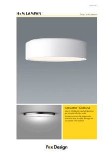 H+M lampan produktblad