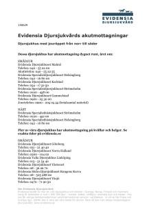 Listan - Evidensias akutmottagningar