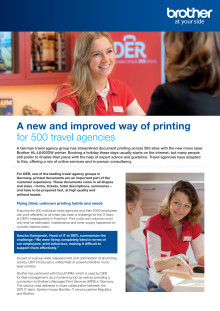 A new way of printing for 500 travel agencies - DER case study