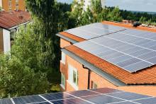 Solceller minskar landstingets  kostnader för el