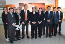 Energiforskning i centrum när Kinas ambassadör besökte MDH