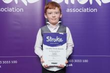 Eight–year-old Preston stroke survivor receives regional recognition