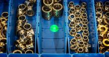 Större grön punkt med laserpekaren