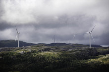 Alle turbiner oppe i Roan vindpark