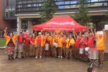 Local Samba band celebrates railway plaque award