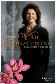 En ny Stiftelse för utsatta barn med 55.913.515 sek i startkapital överlämnades i kväll till Drottningen i samband med en hyllningsföreställning på Oscarsteatern.