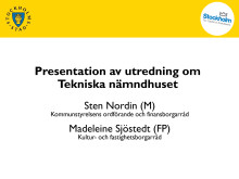 Presentationen från pressträffen onsdagen den 13/2 2013
