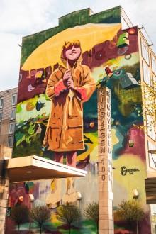 Södermalms största muralmålning skapas på Clarion Hotel Stockholm i Skanstull