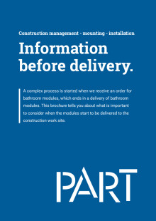 Information before delivery