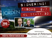 Almedalen: Mattias Klum & Johan Rockström signerar Vår tid på jorden