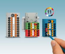 Tilkoblingsklare fordelerblokker med push-in-tilkobling