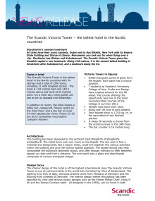 PR Fact Sheet Scandic Victoria Tower