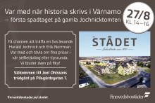 Första spadtaget på historisk mark i Värnamo