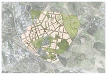 Strukturplan över Barkarbystaden