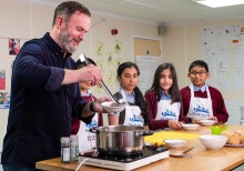 Thousands of Birmingham students swap pens for pans for cook-a-long with Michelin Star chef