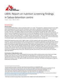 Undernäring i Sabaa-förvaret i Libyen