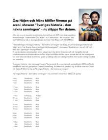 "PM ""Sveriges historia - den nakna sanningen"""