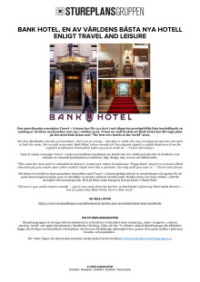BANK HOTEL - TRAVEL AND LEISURE