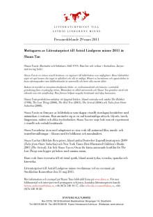 Pressmeddelande Shaun Tan pdf