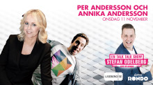 """Fullsatt när Annika Andersson och Per Andersson gästar Stefan Odelbergs populära """"En Talk Talk Show"""" på Rondo!"""
