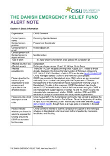 19-012-RO Alert Note Bangladesh Monsoon Crisis