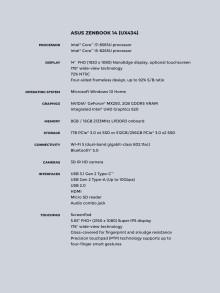 Zenbook 14 (UX434) specifications