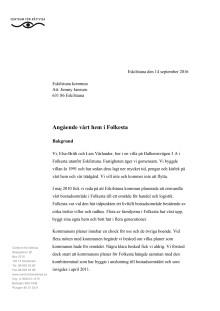 Kravbrev från Folkestaborna 2016-09-14