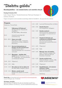 Program för temadagen 24 oktober 2012