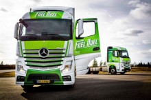 Danske vognmænd sparer i gennemsnit 9,8 % brændstof i Mercedes Fuel Duel
