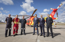 Air Ambulance receives boost from London Luton Airport and Harrods Aviation