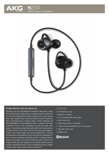 AKG N200BT_Spec sheet