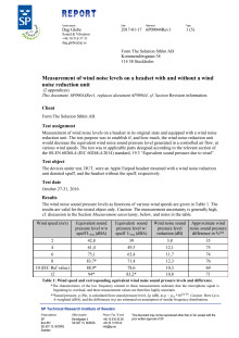 Tested and documented results from SP - The Technical Research Institute of Sweden