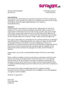 Surfa Lugnts Remissvar GDPR