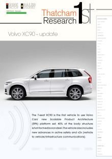 Thatcham 1st : Volvo XC90