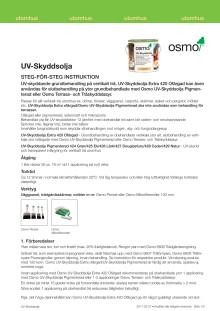 Steg för steg instruktion Osmo UV-Skyddsolja