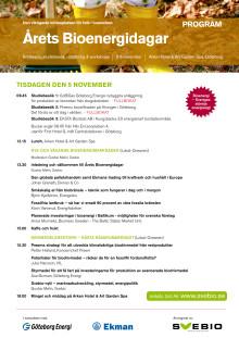 Program för Årets Bioenergidagar 2013