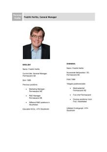 Fredrik Herlitz - Personprofil
