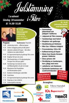 Detaljerat program - Julstämning i Tibro 2014