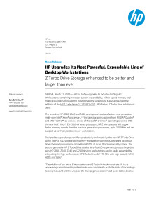 2016 03 31: Press Release: HP Upgrades Its Most Powerful, Expandable Line of Desktop Workstations