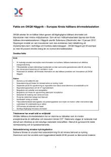 Faktablad Häggvik